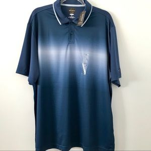 Greg Norman short sleeve blue and white polo